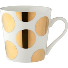 Waitrose bone china gold spot mug