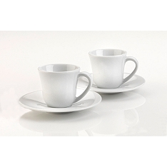 Alessi coffee cup & saucer, set of 2