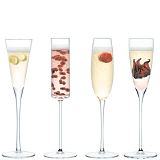 LSA Lulu champagne flutes, set of 4 assorted