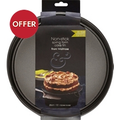 from Waitrose 25cm non-stick spring form cake tin