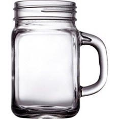 Waitrose Dining glass jar with handle