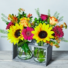 Autumn Posy Jar Duo