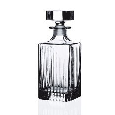 RCR Crystal Timeless square decanter with stopper