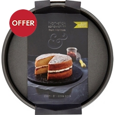 from Waitrose 20cm sandwich tin
