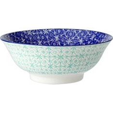 Waitrose oriental 21cm blue bowl