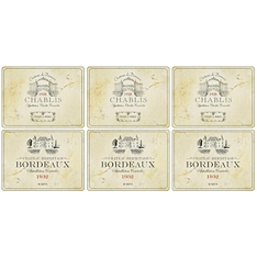 Pimpernel Vin de France placemats , set of 6