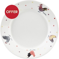 Churchill China Rooster pasta dish
