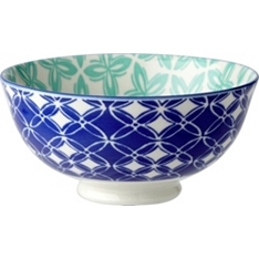 Waitrose oriental 11cm dark blue bowl