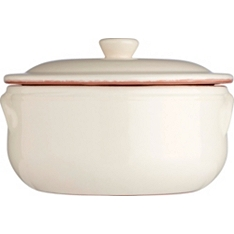 Waitrose Cooking cream and terracotta casserole dish