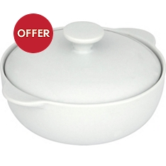 Waitrose Chef's White mini casserole dish