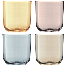 LSA Polka metallic tumbler glasses, set of 4