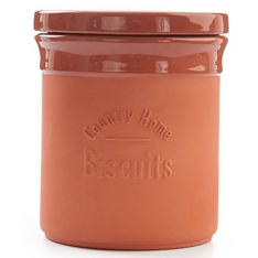 DMD Terracotta biscuit canister