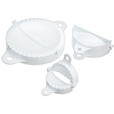 Home Made glass pasty moulds, set of 3