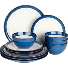 Waitrose Dining Oxford blue 12 piece set