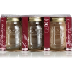 Kilner preserve jars, 0.5 litre, set of 3