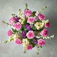 Medium Roses & Scented British Stocks Bouquet