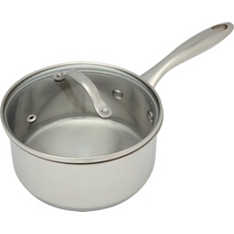 Waitrose Cooking 16cm non-stick saucepan with lid