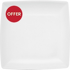 Waitrose Chef's White square side plate