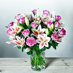 Roses & Scented British Lilies Bouquet