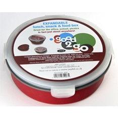 Good 2 Go round red 1.8L container with removable compartments