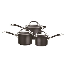 Circulon symmetry non-stick 3 piece saucepan set