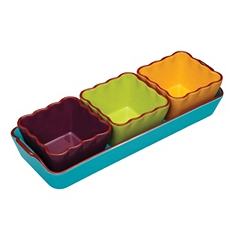 World of Flavours Mexican dip serving set