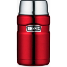 Thermos 710ml red stainless steel king food flask