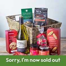 Hamper of Treats with White Wine from Waitrose