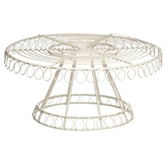Kitchen Craft wire traditional footed cake stand