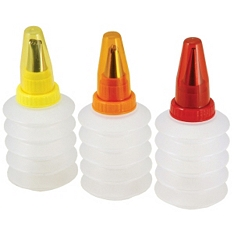 Tala set squeeze decorating icing bottles, set of 3