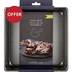 from Waitrose square 20cm non-stick cake pan