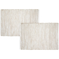 Waitrose Ribbed Natural Placemat