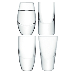 LSA Lulu vodka glasses, set of 4 assorted