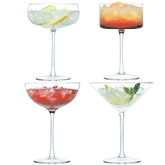 LSA Lulu cocktail glasses, set of 4 assorted