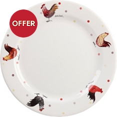 Churchill China Rooster dinner plate