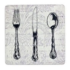 Inspire vintage cutlery coasters, set of 4