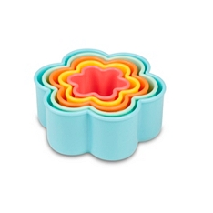 Tala flower coloured cookie cutters , set of 5