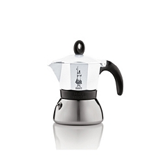 Bialetti 3 cup white induction moka