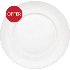 Waitrose Chef's White rimmed dinner plate