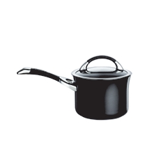 Circulon Symmetry 18cm black saucepan