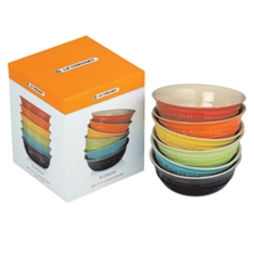 Le Creuset rainbow cereal bowls, set of 6