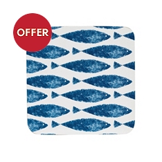 Churchill China Sieni fishie on a dishie coasters, set of 6