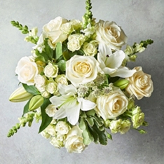 Medium Scented White Lily & Rose Bouquet