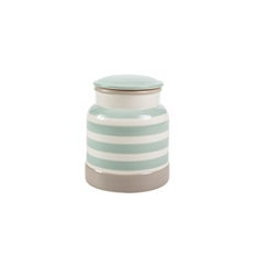 Cream & Country mint stripe extra large jar