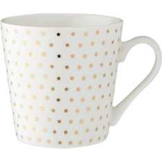 Waitrose bone china gold star mug