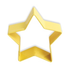 Yellow 5 point star cookie cutter