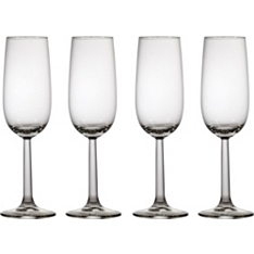 Waitrose cafe box Champagne flutes, set of four