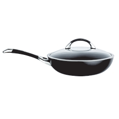 Circulon symmetry black non-stick 30cm stirfry pan