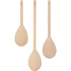 essential Waitrose wooden spoons, set of 3