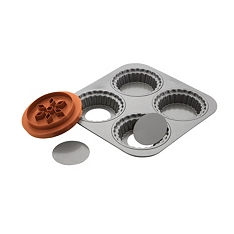 Eddingtons steel loose base pie set